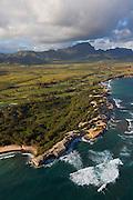 Shipwreck Beach, Makawehi cliffs and dunes. Poipu, Kauai, Hawaii