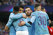 Manchester City forward Gabriel Jesus (9) celebrates his goal during the The FA Cup match between Manchester City and Fulham at the Etihad Stadium, Manchester, England on 26 January 2020.