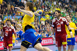 Nikola Ranevski of Celje during handball match between RK Celje Pivovarna Lasko (SLO) and MKB Veszprem KS (HUN) in 7th Round of Group B of EHF Champions League 2012/13 on December 1, 2012 in Arena Zlatorog, Celje, Slovenia. Veszprem defeated Celje PL 24-19. (Photo By Vid Ponikvar / Sportida)