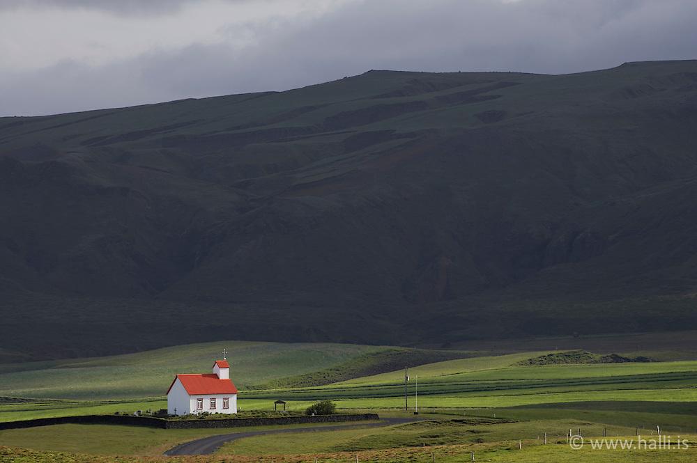 The church at Grof in Skaftardalur, Iceland - Kirkjan að Gröf í Skaftárdal