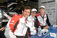 Timo Bernhard (DEU) / Mark Webber (AUS) / Brendon Hartley (NZL) #1 Porsche Team Porsche 919 Hybrid, . Le Mans 24 Hr June 2016 at Circuit de la Sarthe, Le Mans, Pays de la Loire, France. June 14 2016. World Copyright Peter Taylor/PSP.