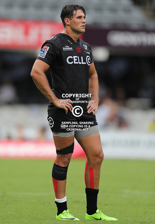 Kobus van Wyk of the Cell C Sharks during the Super Rugby match between the Cell C Sharks and the Jaguares  April 8th 2017 - at Growthpoint Kings Park,Durban South Africa Photo by (Steve Haag)