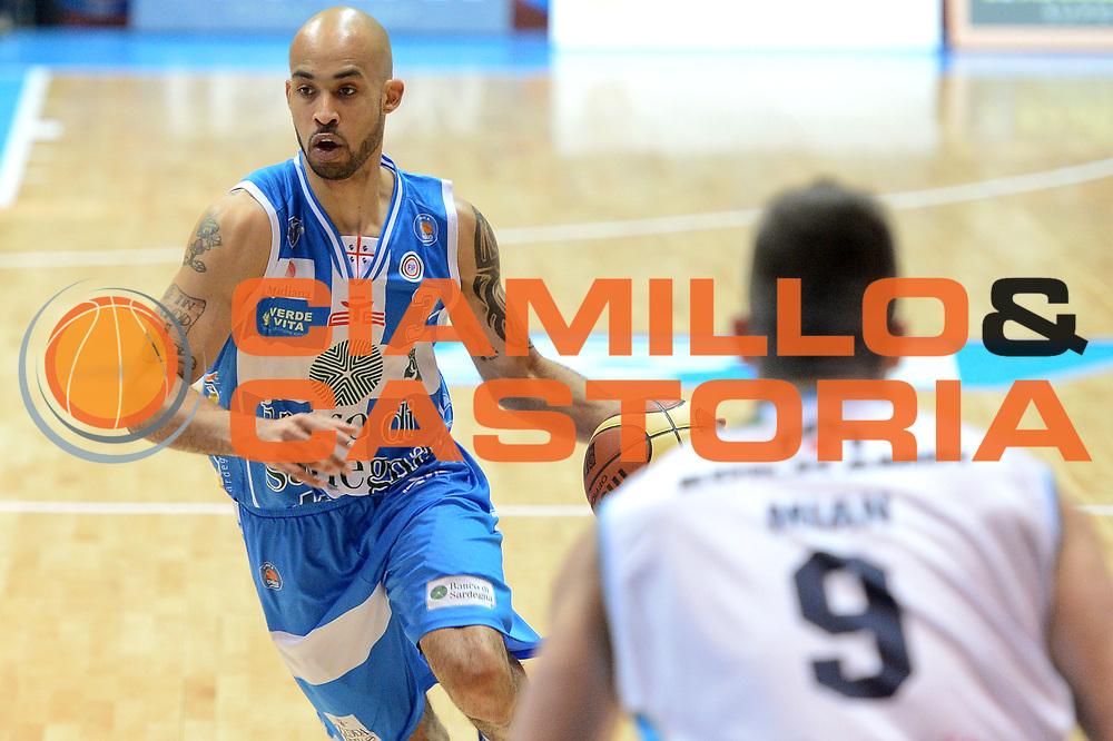 DESCRIZIONE : Final Eight Coppa Italia 2015 Desio Quarti di Finale Banco di Sardegna Sassari vs Vagoli Basket Cremona<br /> GIOCATORE :Logan David<br /> CATEGORIA :Palleggio <br /> SQUADRA : Banco di Sardegna Sassari<br /> EVENTO : Final Eight Coppa Italia 2015 Desio <br /> GARA : Banco di Sardegna Sassari vs Vagoli Basket Cremona<br /> DATA : 20/02/2015 <br /> SPORT : Pallacanestro <br /> AUTORE : Agenzia Ciamillo-Castoria/I.Mancini