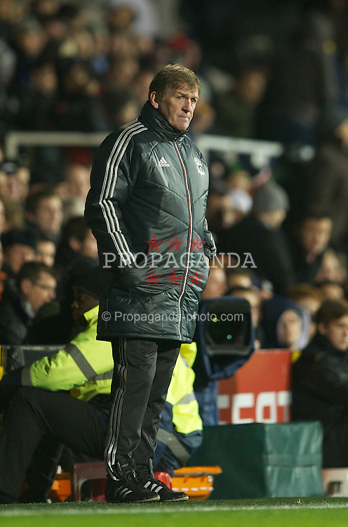 LONDON, ENGLAND - Monday, December 5, 2011: Liverpool's manager Kenny Dalglish during the Premiership match against Fulham at Craven Cottage. (Pic by David Rawcliffe/Propaganda)