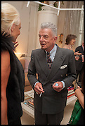 NICKY HASLAM, Nicky Haslam hosts a party to launch a book by  Maureen Footer 'George Stacey and the Creation of American Chic' . With a foreword by Mario Buatta. Kensington. London. 11 June 2014