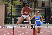 Breanna Bernard-Joseph of Southern California places third in the women's 400m hurdles in 1:01.12 against UCLA during an NCAA college dual meet in Los Angeles, Sunday, April 28, 2019.