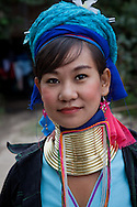 Women of Long Neck Hill Tribe in Northern Thailand.