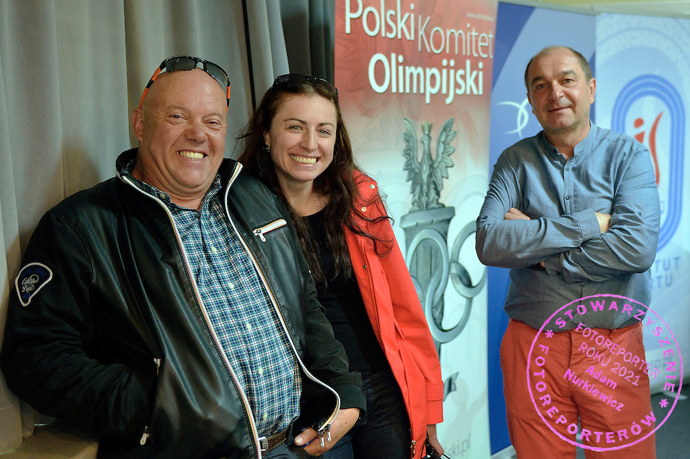 Wieslaw Kmiecik trainer coach of women's speed skating and Justyna Kowlaczyk and Krzysztof Niedzwiedzki trainer coach of speed skating   during conference of olympic trainers and coaches at COS (Centralny Osrodek Sportowy) in Spala on May 13, 2014.<br /> <br /> Poland, Spala, May 13, 2014<br /> <br /> Picture also available in RAW (NEF) or TIFF format on special request.<br /> <br /> For editorial use only. Any commercial or promotional use requires permission.<br /> <br /> Mandatory credit:<br /> Photo by &copy; Adam Nurkiewicz / Mediasport