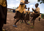 Girls play ampe, a traditional game based on hands clapping, jumping and rhythm, at the Ying Anglican Primary School in the Savelugu-Nanton district, northern Ghana on Monday June 4, 2007.