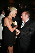 CAPRICE AND ANDREW NEIL, Tatler Summer party. Home House. Portman Sq. London. 27 June 2007.  -DO NOT ARCHIVE-© Copyright Photograph by Dafydd Jones. 248 Clapham Rd. London SW9 0PZ. Tel 0207 820 0771. www.dafjones.com.