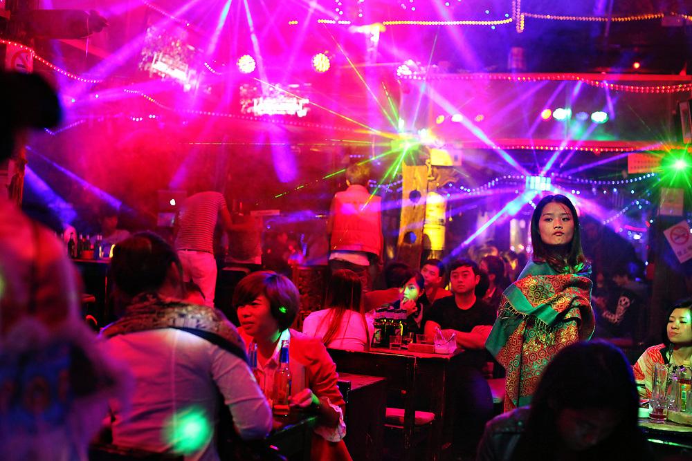 Nightclub in old-town Lijiang,Yunnan, China; September, 2013.