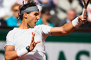 Paris, France. Roland Garros. June 1st 2013.<br /> Spanish player Rafael NADAL against Fabio FOGNINI