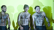 The Hairy Ape <br /> by Eugene O'Neill <br /> at the Old Vic Theatre, London, Great Britain <br /> press photocall<br /> 27th October 2015 <br /> <br /> Bertie Carvel as Yank <br /> <br /> Adam Burton as Secretary <br /> <br /> Buffy Davis as Aunt <br /> <br /> Callum Dixon as Long <br /> <br /> Nicholas Karimi as Second Engineer<br /> <br /> Steffan Rhodri as Paddy <br /> <br /> Rosie Sheehy as Mildred <br /> <br /> <br /> Photograph by Elliott Franks <br /> Image licensed to Elliott Franks Photography Services