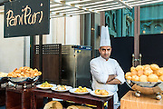 DUBAI, UAE - DECEMBER 18, 2015: Indian street food station at the Arboretum restaurant, located in Jumeirah Al Qasr, Madinat Jumeirah Resort.