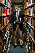 Professor Gerald Early, Merle Kling Professor of Modern Letters at Washington University, poses for a portrait at the John M. Olin Library in St. Louis, Missouri.