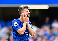 Football - 2019 / 2020 Premier League - Chelsea vs. Sheffield United<br /> <br /> Chelsea's Mason Mount frustrated as a chance goes wide, at Stamford Bridge.<br /> <br /> COLORSPORT/ASHLEY WESTERN