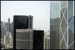 Stock photos of office blocks in Hong Kong, China Stock, China.October 2013. Picture by Andrew Parsons / i-Images