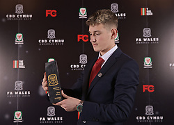 CARDIFF, WALES - Thursday, March 21, 2019: Wales' David Brooks with his Player of the Year award during the Football Association of Wales Awards 2019 at the Hensol Castle. (Pic by David Rawcliffe/Propaganda)