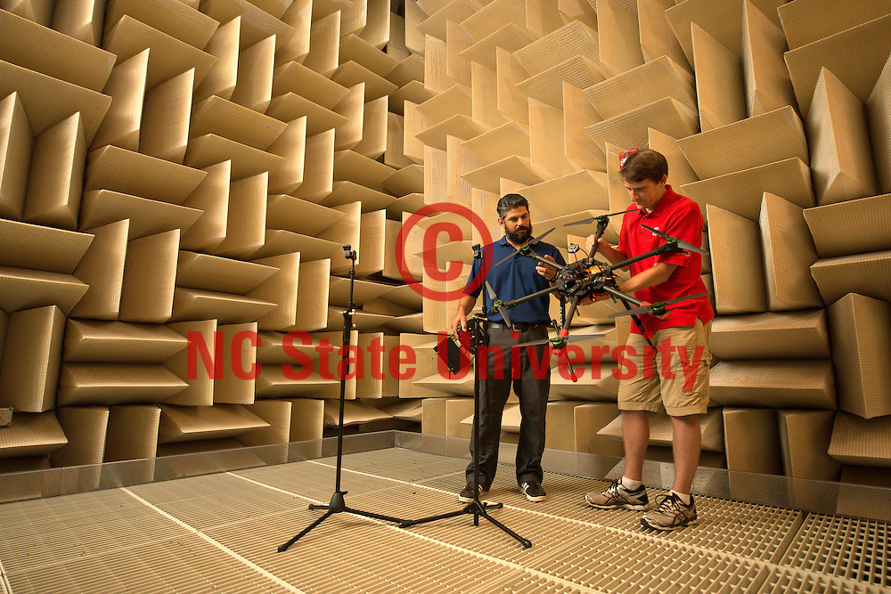 The anechoic chamber on Centennial campus. Photo by Marc Hall