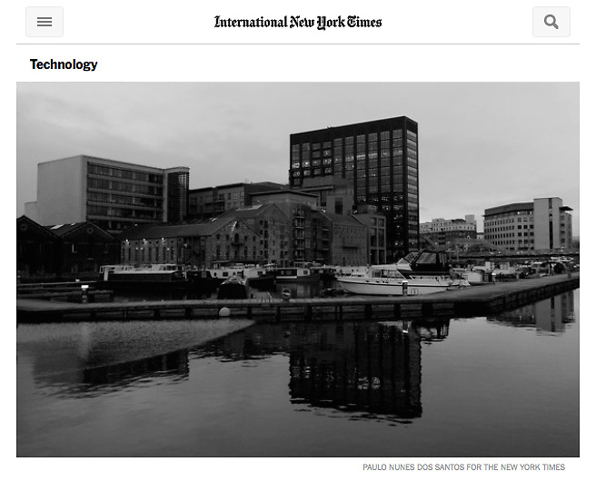 "Screengrab of ""Google HQ in Dublin"" published in The New York Times"