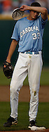 06/16/2006 University of North Carolina starting pitcher Andrew Miller after he gave up a home run during the third inning of game 2 of the College World Series in Omaha Nebraska Friday evening..(photo by  Chris Machian/Prairie Pixel Group)