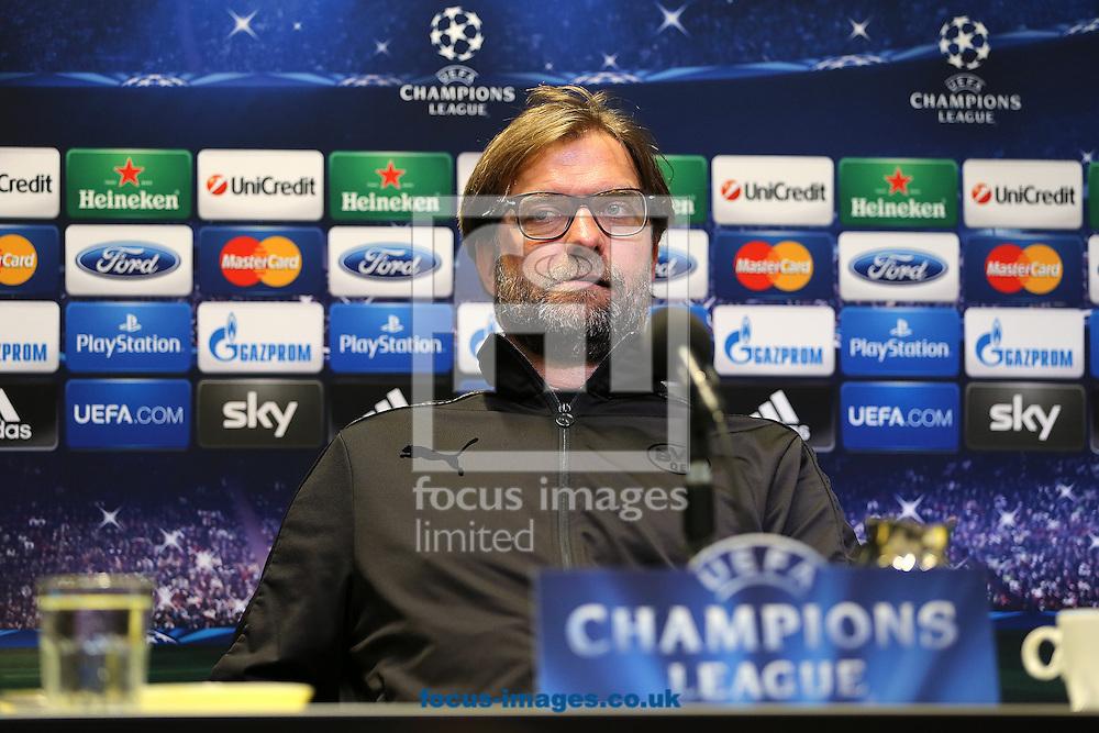 Manager of Borussia Dortmund, Jurgen Klopp pictured during the press conference at Westfalenstadion, Dortmund<br /> Picture by Richard Calver/Focus Images Ltd +447792 981244<br /> 07/04/2014