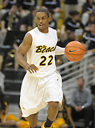 Feb 19, 2011; Long Beach, CA, USA; Long Beach State 49ers guard Casper Ware (22) dribbles the ball against the Montana Grizzlies at the Walter Pyramid. Long Beach State defeated Montana 74-56.