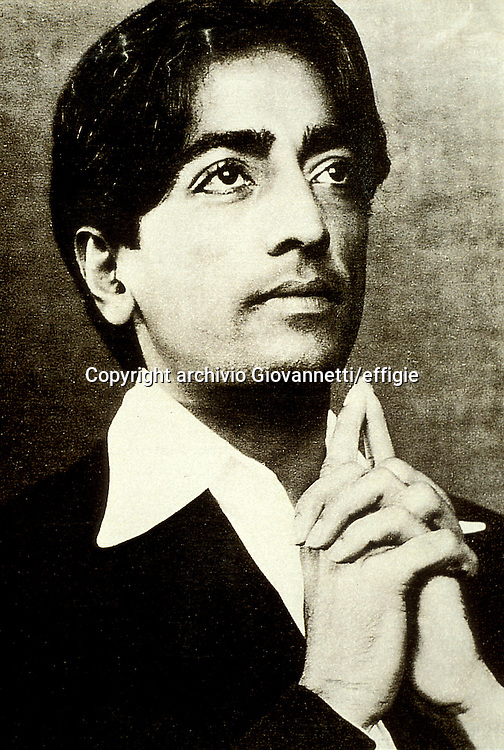 Jiddu Krishnamurti<br />archivio Giovannetti/effigie