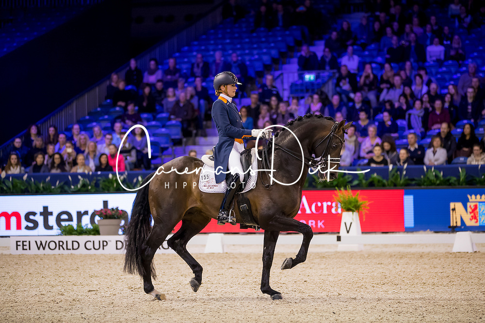 Scholtens Emmelie, NED, Apache<br /> FEI World Cup Dressage - Grand Prix<br /> Jumping Amsterdam 2017<br /> &copy; Hippo Foto - Leanjo de Koster<br /> 27/01/17