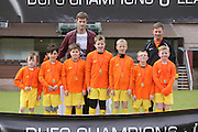 Barcelona with Dundee United player Brian McLean - Dundee United J-League Finals at Tannadice. .© David Young - www.davidyoungphoto.co.uk - email: davidyoungphoto@gmail.com