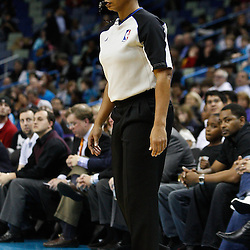 February 7, 2011; New Orleans, LA, USA; Referee Violet Palmer (12) on the court during the fourth quarter of a game between the New Orleans Hornets and the Minnesota Timberwolves at the New Orleans Arena.   Mandatory Credit: Derick E. Hingle