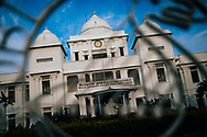 Facade of the historic Jaffna Public Library, which was rebuilt after being destroyed by the long-running civil war, Sri Lanka, Asia