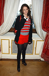 LEAH WOOD at a fashion show featuring the Miss Selfridge Autumn/Winter '05 collections held at The Wallace Collection, Manchester Square, London W1 on 6th April 2005.<br /><br />NON EXCLUSIVE - WORLD RIGHTS