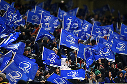 Leinster Rugby supporters in the crowd wave flags to celebrate a try - Mandatory byline: Patrick Khachfe/JMP - 07966 386802 - 15/12/2018 - RUGBY UNION - Aviva Stadium - Dublin, Republic of Ireland - Leinster Rugby v Bath Rugby - Heineken Champions Cup