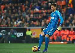 January 26, 2019 - Valencia, Valencia, Spain - Neto Murara of Valencia CF during the La Liga Santander match between Valencia and Villarreal at Mestalla Stadium on Jenuary 26, 2019 in Valencia, Spain. (Credit Image: © Maria Jose Segovia/NurPhoto via ZUMA Press)