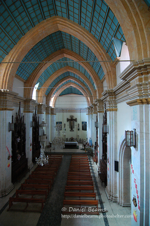 Interior of the Iglesia La Recoleta in Sucre, Bolivia