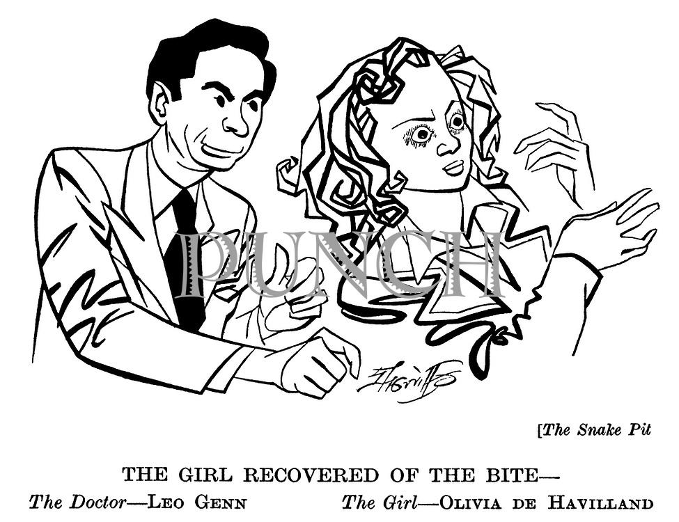 .The Snake Pit ; Leo Genn and Olivia De Havilland......