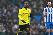 Burton Albion striker Marvin Sordell (9) during the EFL Sky Bet Championship match between Brighton and Hove Albion and Burton Albion at the American Express Community Stadium, Brighton and Hove, England on 11 February 2017. Photo by Bennett Dean.