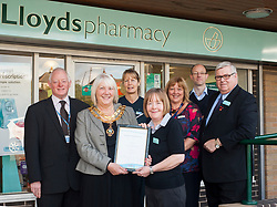 Lloyds Pharmacy Stocksbridge has <br /> achieved the status of 'Healthy Living Pharmacy'. A special accreditation for offering high levels of health screening  and advice to the local community.<br /> <br /> <br /> <br /> 04 October 2012<br /> Image © Paul David Drabble