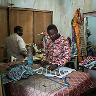 Tailors working in Marcia Creation atelier, about 15 persorns are working her and other 15 at Lydie Malingumu home where she has a second atelier. CAPTA/FEDERICO SCOPPA