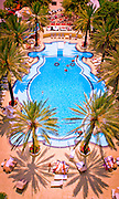 The Tropical Deco-style Raleigh Hotel pool in Miami Beach, designed by architect L. Murray Dixon in 1940, was hailed by Life magazine as the most beautiful pool in Florida. Some say it still is.