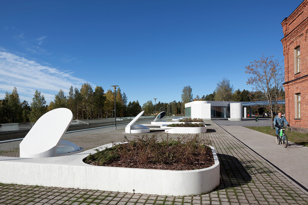 Kymeenlaakso University of Applied sciences in Kouvola, Finland designed by NRT Architects.
