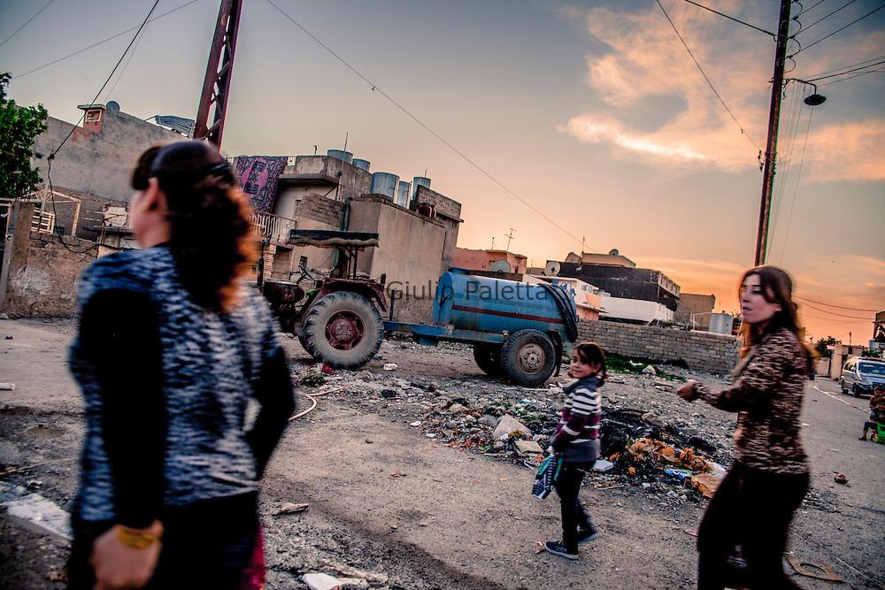 Yazidi women in the streets of Bahzani