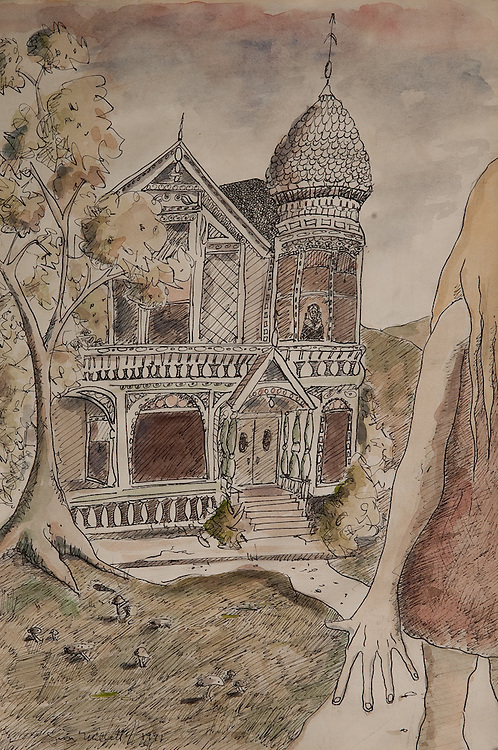 GRANDMA'S HOUSE, ink and watercolor 1993