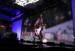 A tribute to Dalian Atkinson on the big screen during the Professional Footballers' Association Awards 2017 at the Grosvenor House Hotel, London