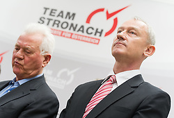 "06.02.2015, Parlamentsklub TS, Wien, AUT, Team Stronach, Pressekonferenz mit dem Thema: ""Neustart Team Stronach"". im Bild v.l.n.r. Vizeparteichef Team Stronach Wolfgang Auer und Parteigruender und Obmann Frank Stronach // f.l.t.r. Vice-Leader of the parliamentary group TS Wolfgang Auer and Party Founder Frank Stronach during press conference of Team Stronach at parliamentary club TS in Vienna, Austria on 2015/02/06. EXPA Pictures © 2015, PhotoCredit: EXPA/ Michael Gruber"