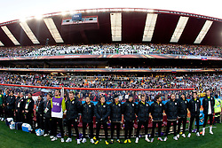 Substitutes of Slovenia during the 2010 FIFA World Cup South Africa Group C match between Slovenia and USA at Ellis Park Stadium on June 18, 2010 in Johannesberg, South Africa. (Photo by Vid Ponikvar / Sportida)