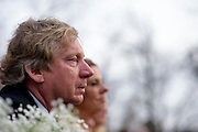 Annapolis, Maryland - April 18, 2015: Tim and Janet Cate watch their daughter Stephanie Cate wed Winston Lord.<br /> <br /> Stephanie Shearer Cate and Winston Bao Lord wed at their friends Jeff and Marry Zients' house in Annapolis, Maryland Saturday April 18, 2015. <br /> <br /> <br /> <br /> CREDIT: Matt Roth for The New York Times<br /> Assignment ID: 30173318A