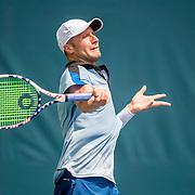 August 20, 2016, New Haven, Connecticut: <br /> Tyler Hochwalt in action during a US Open National Playoffs match at the 2016 Connecticut Open at the Yale University Tennis Center on Saturday, August  20, 2016 in New Haven, Connecticut. <br /> (Photo by Billie Weiss/Connecticut Open)