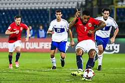 October 5, 2017 - San Marino, SAN MARINO - 171005 Joshua King of Norway scores 2-0 on a penalty kick during the FIFA World Cup Qualifier match between San Marino and Norway on October 5, 2017 in San Marino. .Photo: Fredrik Varfjell / BILDBYRN / kod FV / 150027 (Credit Image: © Fredrik Varfjell/Bildbyran via ZUMA Wire)